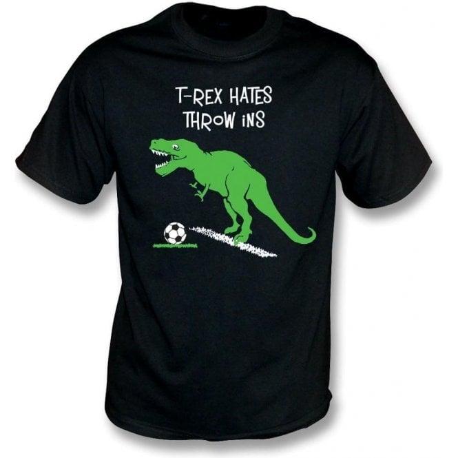 T-Rex Hates Throw Ins Kids T-Shirt