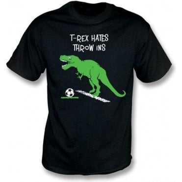 T-Rex Hates Throw Ins Kids T-Shirt