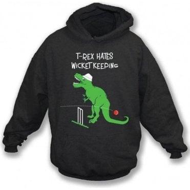 T-Rex Hates Wicketkeeping Kids Hooded Sweatshirt