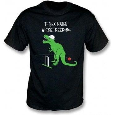 T-Rex Hates Wicketkeeping Kids T-Shirt