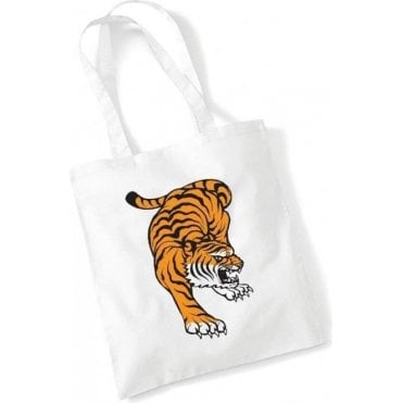 Tattoo Tiger Long Handled Tote Bag