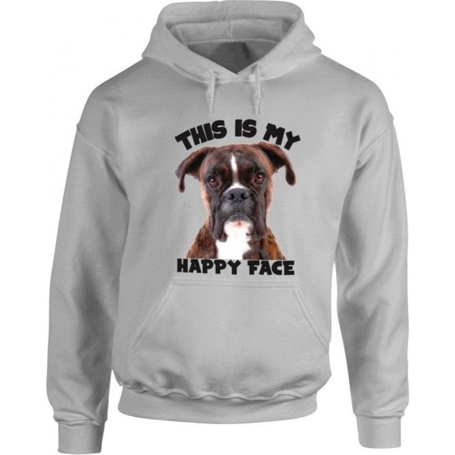 This Is My Happy Face Hooded Sweatshirt
