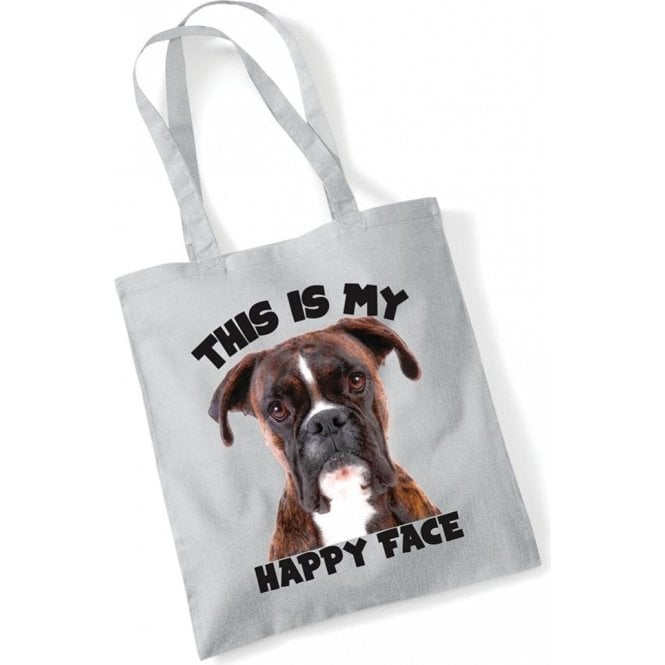 This Is My Happy Face Long Handled Tote Bag