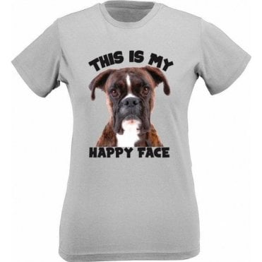 This Is My Happy Face Womens Slim Fit T-Shirt