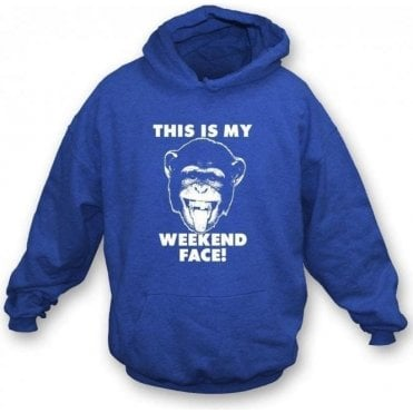 This Is My Weekend Face Kids Hooded Sweatshirt