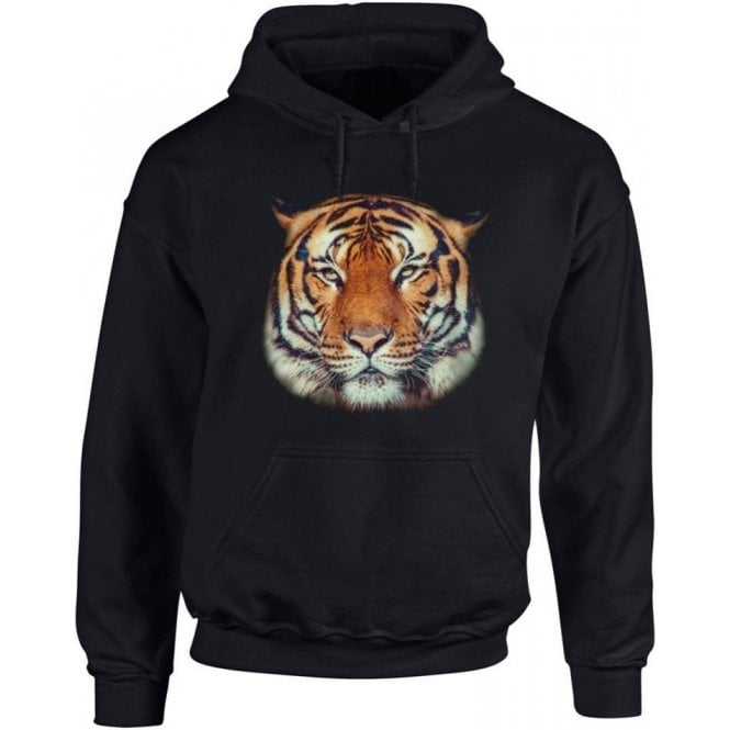 Tiger Face Kids Hooded Sweatshirt