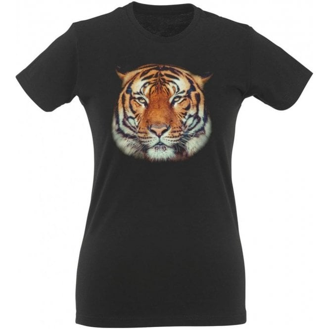 Tiger Face Womens Slim Fit T-Shirt