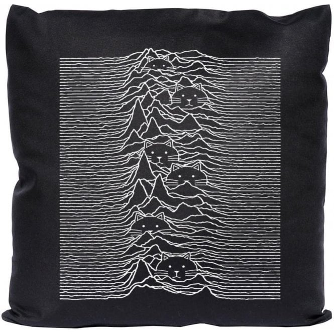 Unknown Pleasures Cats Cushion