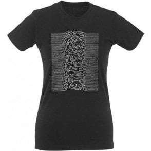 Unknown Pleasures Cats Womens Slim Fit T-Shirt