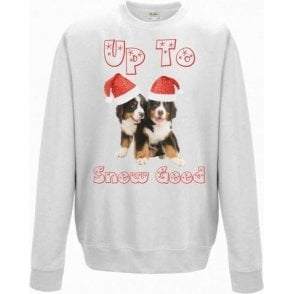 Up To Snow Good (Burnese Sennenhund) Kids Sweatshirt