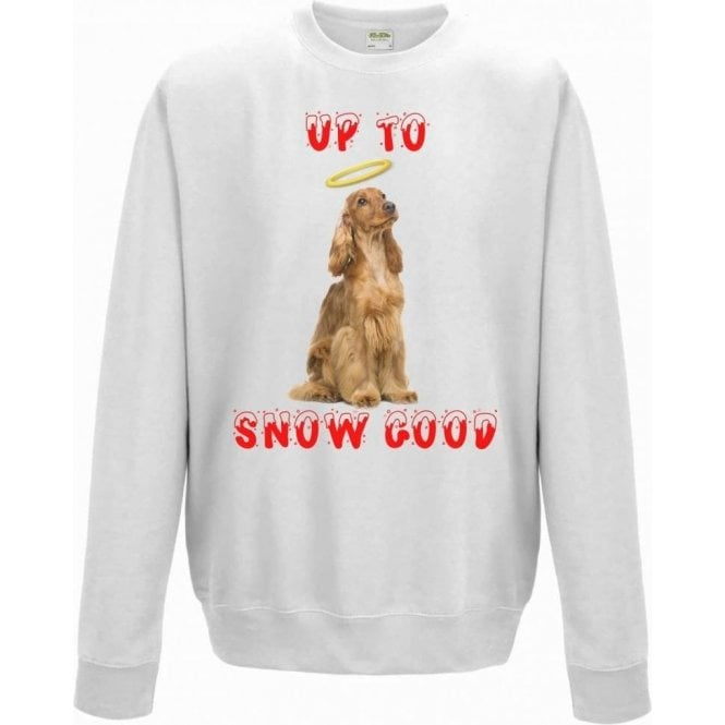 Up To Snow Good (Cocker Spaniel) Christmas Jumper
