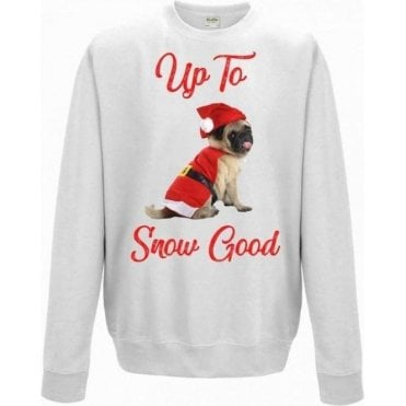 Up To Snow Good (Pug) Kids Sweatshirt