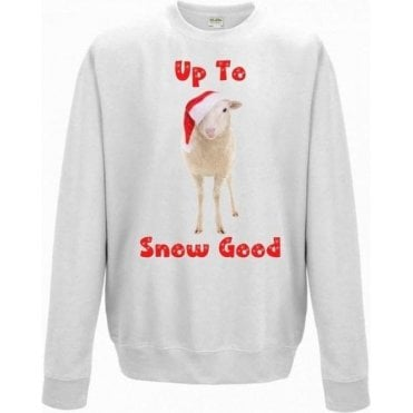 Up To Snow Good (Sheep) Kids Christmas Jumper