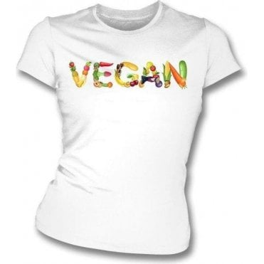 Vegan Foods Womens Slim Fit T-Shirt