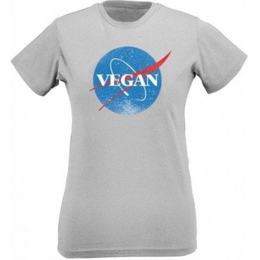 Vegan NASA Womens Slim Fit T-Shirt