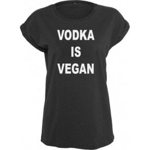 Vodka Is Vegan Womens Extended Shoulder T-Shirt