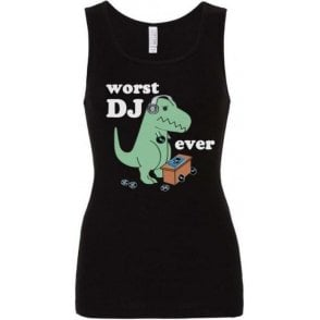 Worst DJ Ever Women's Baby Rib Tank Top