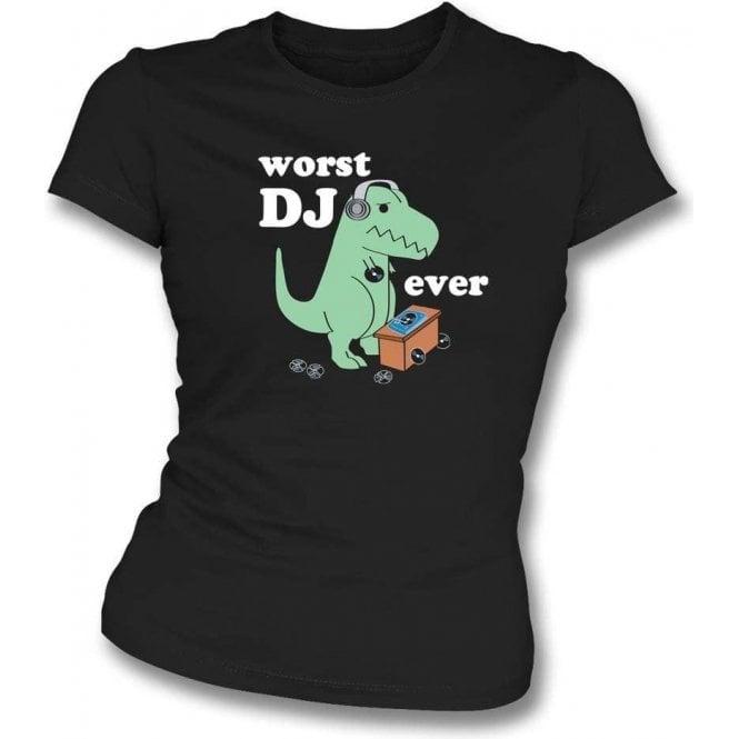 Worst DJ Ever Women's Slim Fit T-Shirt