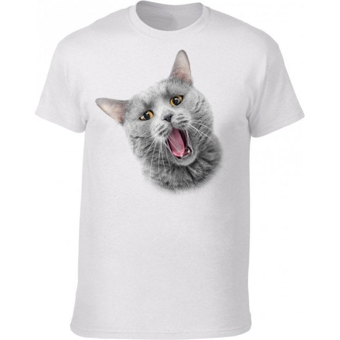 Yawning Cat T-Shirt