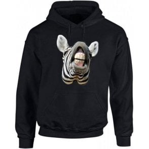 Zebra Head Hooded Sweatshirt