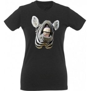 Zebra Head Womens Slim Fit T-Shirt